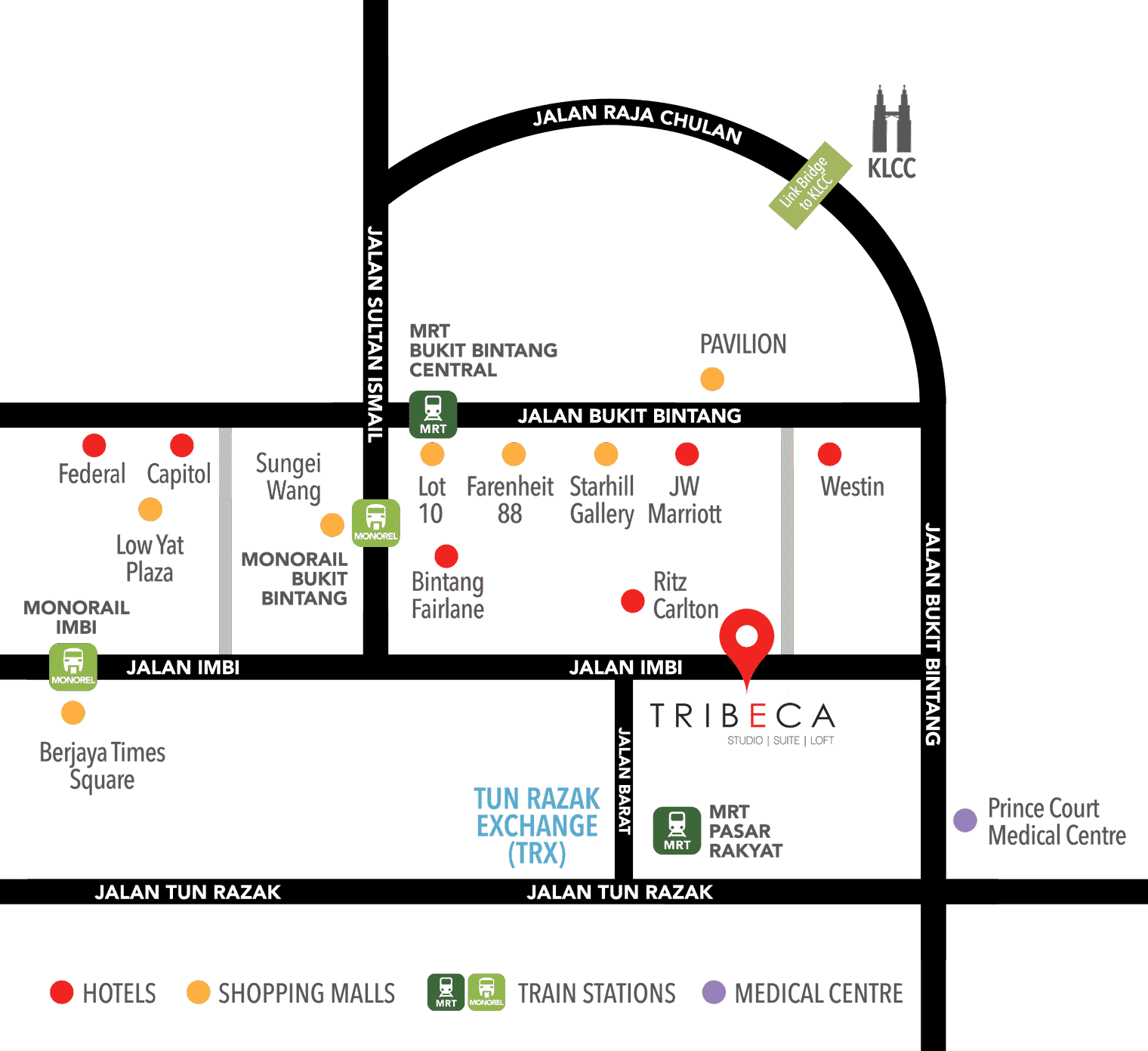 TRIBECA location map